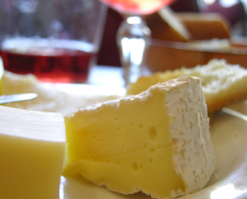 cheeses in foreground