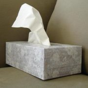 box of tissue on sofa
